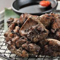 ◆炎の薩摩赤鶏炭火焼