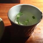 手羽先唐揚 鳥良 - サービスの鶏スープ