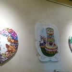 金魚CAFE - 壁のアートがかわいい