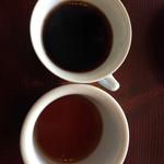 明楽時運 南喜堂 - 豆の説明聞いたあとに、濃さを比べれるように特別に少し薄いのをくれました