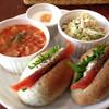 noRo - 料理写真:スモークサーモンベーグルとスープのランチセット 900円