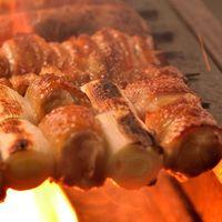 比内地鶏の炭火串焼き