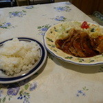 味利 - ライスと豚肉ロースしょうが焼き定食