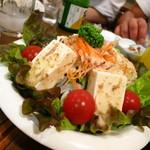 味処 うおとし - 豆腐サラダ530円