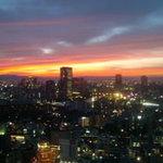 パノラマスカイレストラン アサヒ - その他写真:赤く染まる夕焼け空が美しい