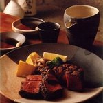 吉亭 - 料理写真:ヒレ網焼き和風ステーキ