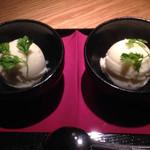踊る魚 - デザートの柚子シャーベット♪