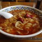 中国ラーメン揚州商人 - スーラータンメン、刀切麺をチョイス