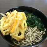 まるき家 - 天ぷらそば300円