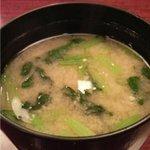 菊寿司 - 味噌汁