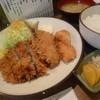 とんかつ 大国 - 料理写真:「ミックス定食 (700円)」♪ ミンチカツ、アジフライ、イカフライのセット