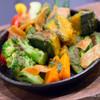 成ミチ - 料理写真:緑黄色温野菜のバジルソースかけ【2014年5月】