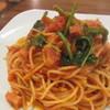 ポルト・ディ・マーレ - 料理写真:ベーコンとほうれん草のトマトソーススパゲティ
