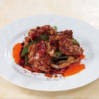 牛肉とネギの山椒香味炒め
