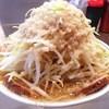 ラーメン大 - 料理写真:レディースラーメン 野菜マシアブラ濃い目 チャーシュートッピング