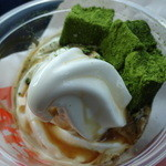 ファーストキッチン - 抹茶わらび餅の黒みつクリーム 310円