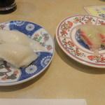 廻鮮寿し丸徳 - カレイのえんがわと真鯛