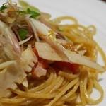 イルベッカフィーコ - タリオリーニ ほたるいかと季節野菜、フレッシュトマトのソース