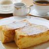 カメリア - 料理写真:フレンチトーストセット¥1,100(税別)|ホテルオークラ東京の味をご堪能いただけるふわふわのフレンチトーストをつくばでも!ふっくら、しっとりがたまりません!(ご提供まで20分程度)