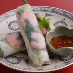 ニャー・ヴェトナム - 料理写真:小海老と豚肉の生春巻き