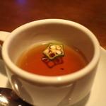 ザ・バー・カサブランカ - お通しコンソメスープ