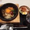ロッテリア - 料理写真:石焼きビビンバとミニ冷麺、ドリンクのセット\830
