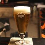 牛のよたれ - キリンの生ビール (2014/06)