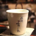 牛のよたれ - 日本酒、焼酎のグラス (2014/06)