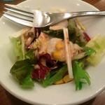 キッチングルメ - 小さなサラダが付いてくる