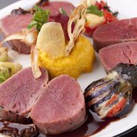 <牛フィレ肉とハモンセラーノのスービット ポルチーニソース>