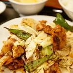達磨 - 定食セット 回鍋肉 (900円)