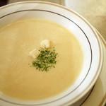 ステーキハウス チャコオキナワ - ランチスープ