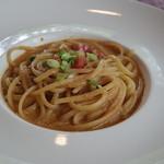 プリモピアット - ワタリ蟹のリングイネ トマトクリームソース