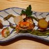 くりた - 料理写真:(撮影 20140616)妻が誕生祝いにと、予約してくれていました。初夏の八寸は日本酒に調度よい。