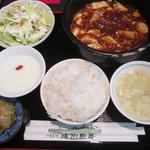 中国料理 揚州厨房 - 麻婆豆腐セット 850円