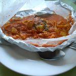 パスタ・カルタ・パコ - ズッキーニとツナのトマトクリーム