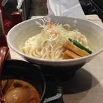 ほそ道 - 味玉カレーつけ麺(〆ご飯付)
