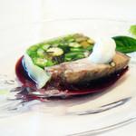 リストランテ ウミリア - みなとみらいコース・前菜 夏野菜と牛舌のテリーヌ