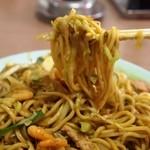 福仙樓 - カレー焼きそばを食べる