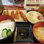 新世界串や - 串かつ定食¥539-