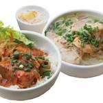 ニャーヴェトナム - ミニ丼とミニフォーのセット