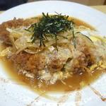 28412140 - ディナータイム限定の「カツ煮 (980円)」♪ 甘めの味付けです。