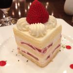 珈琲茶館 集 - 苺のショートケーキ(650円)