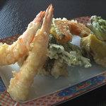 暁山 - 料理写真:天ぷら盛り合わせ