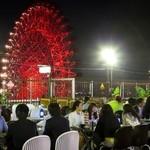 阪急トップ ビアガーデン - HEPの観覧車を目の前に、冷たいビールで乾杯!!