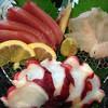 酒房えんや - 料理写真:3種盛りはヨコワ・アコウ・タコ