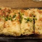 赤燈 - 栃尾揚げのチーズポテト明太子焼き