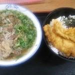 28607289 - ぼっかけソバ、穴子丼セット