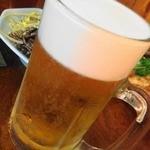 亀城苑 - 生ビール