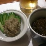三河屋鮨 - カニみそ、もずく酢